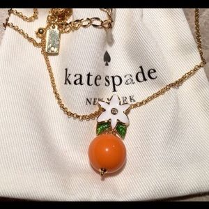 Kate Spade Orange Citrus Crush Blossom Necklace R